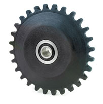 chain lubricating sprockets